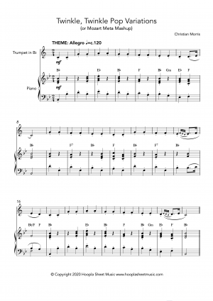 Twinkle, Twinkle Pop Variations (Twinkle, Twinkle Little Star) for Trumpet