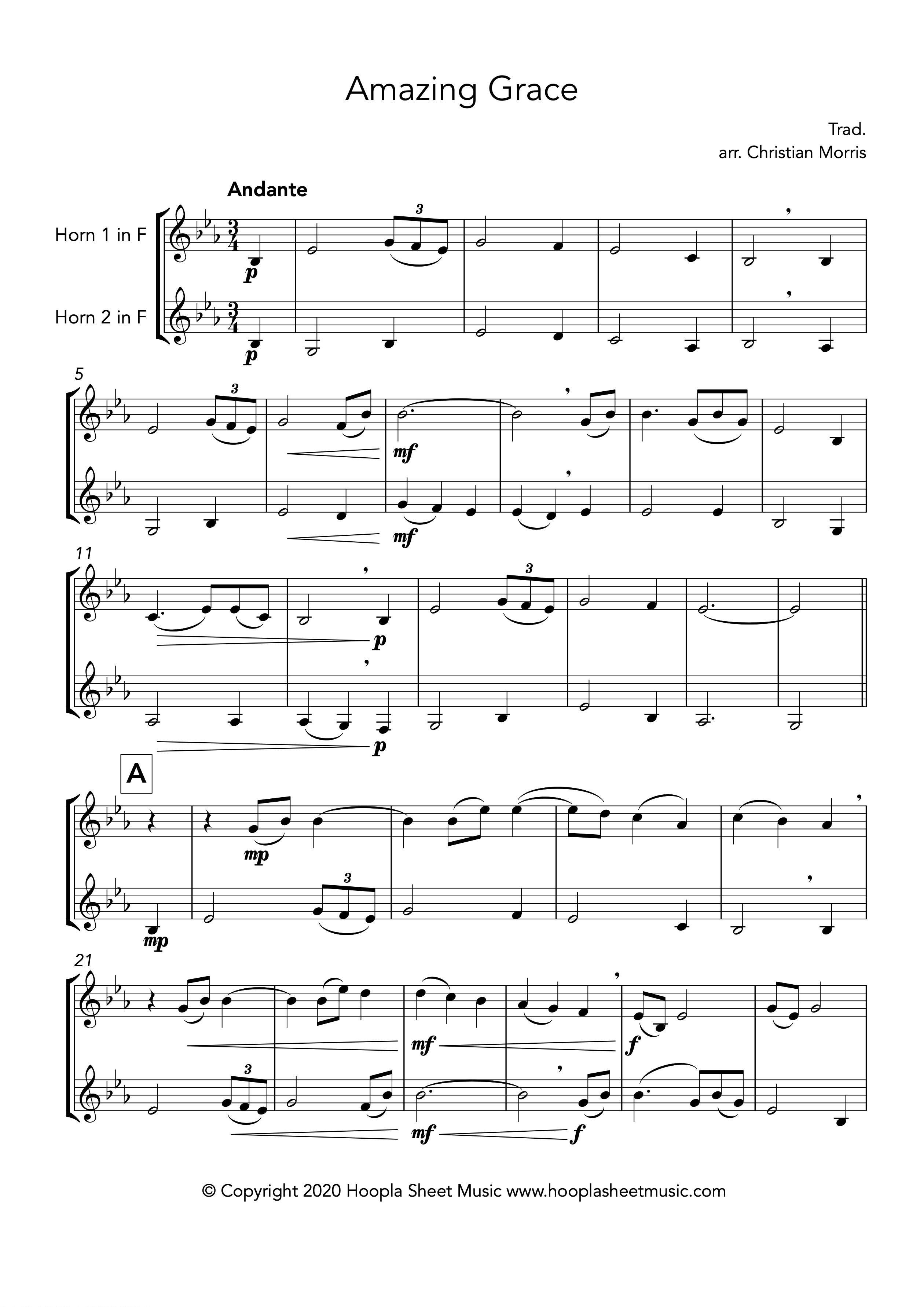 Amazing Grace (French Horn Duet)