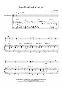 Bossa Nova Bleak Midwinter (Alto Saxophone)
