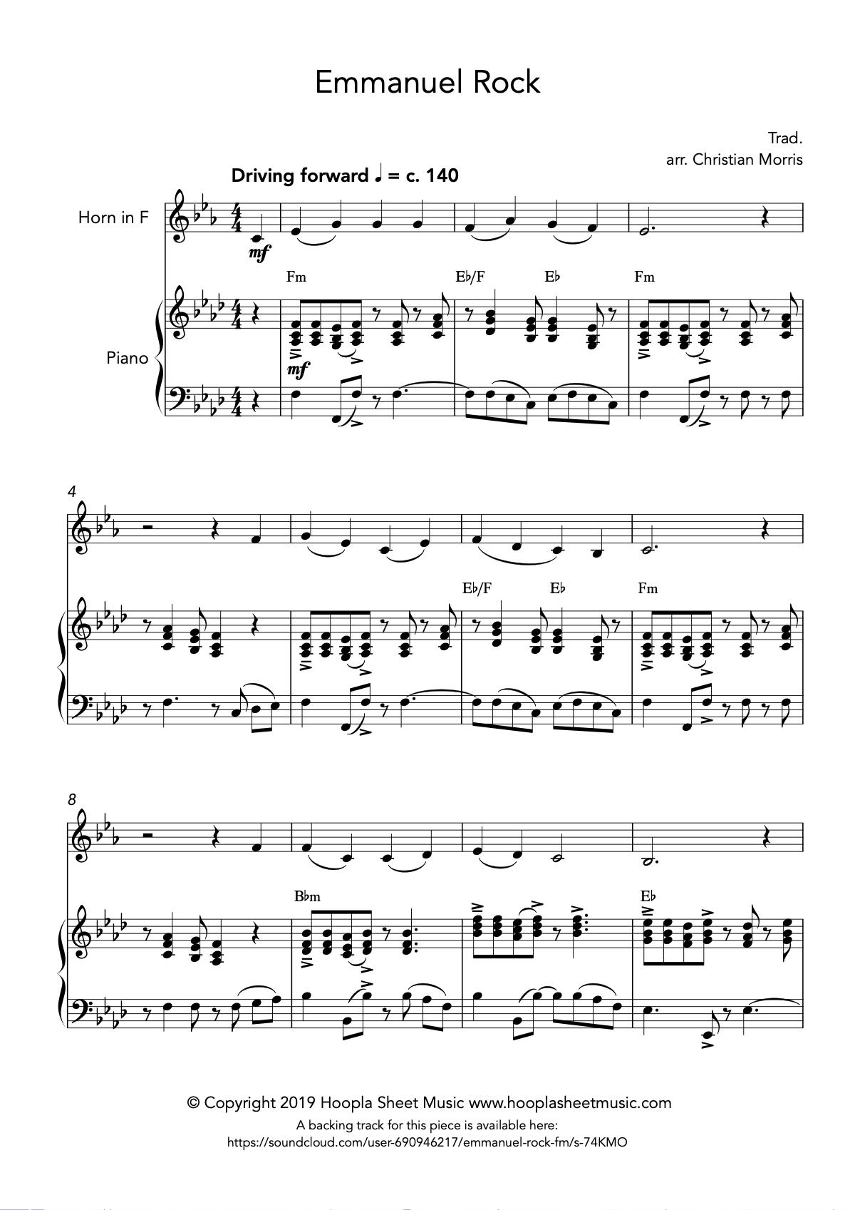 Emmanuel Rock (O Come, O Come Emmanuel) for French Horn