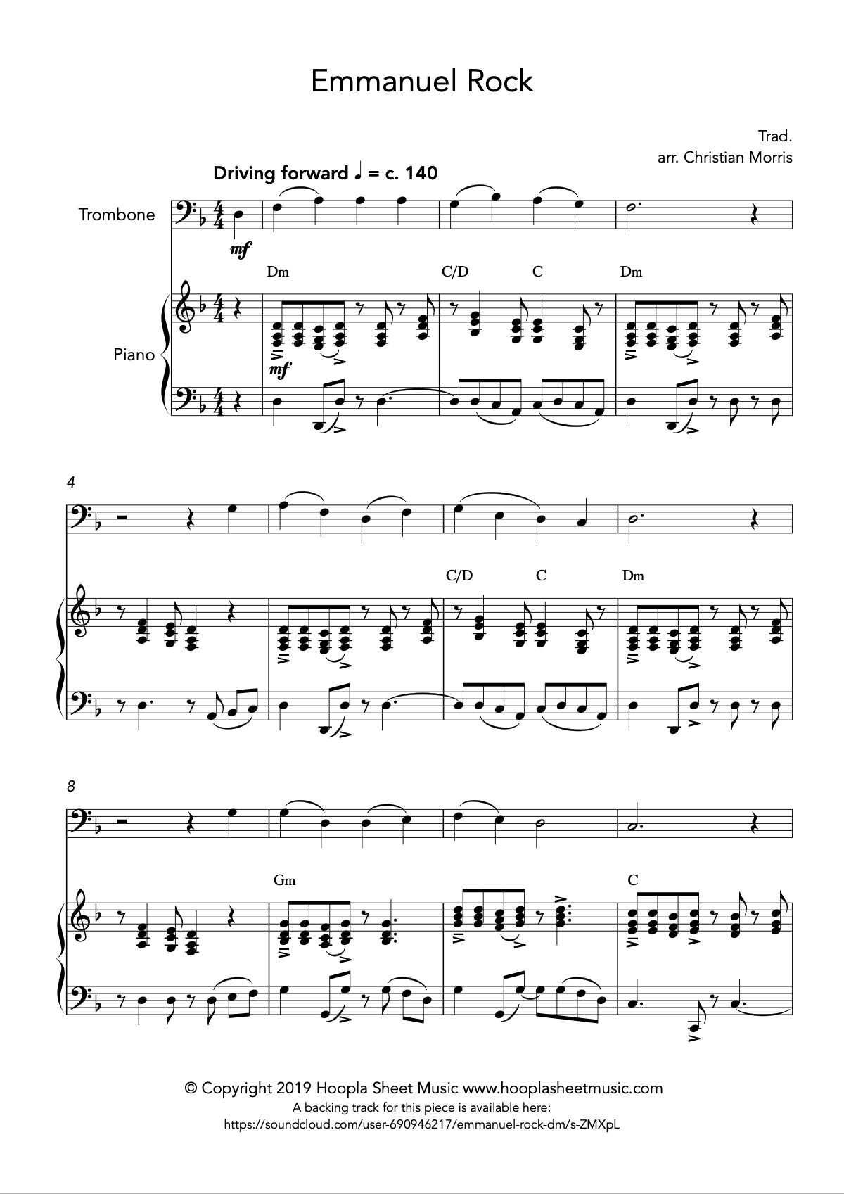 Emmanuel Rock (O Come, O Come Emmanuel) for Trombone