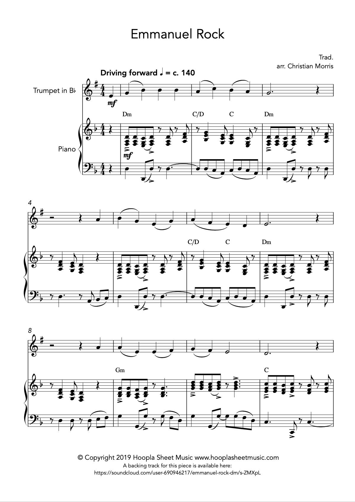 Emmanuel Rock (O Come, O Come Emmanuel) for Trumpet