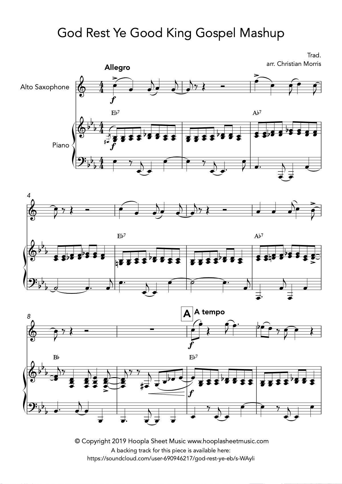 God Rest Ye Good King Gospel Mashup (Alto Saxophone)