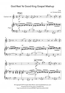 God Rest Ye Good King Gospel Mashup (Clarinet)