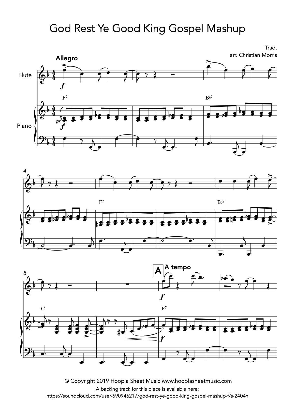 God Rest Ye Good King Gospel Mashup (Flute)