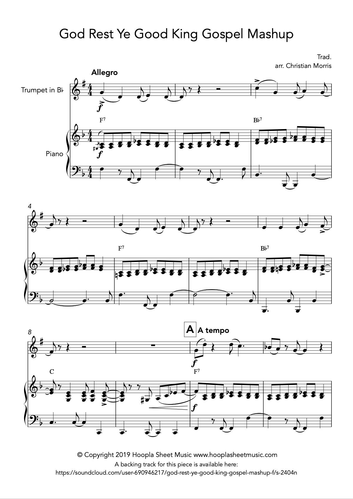 God Rest Ye Good King Gospel Mashup (Trumpet)