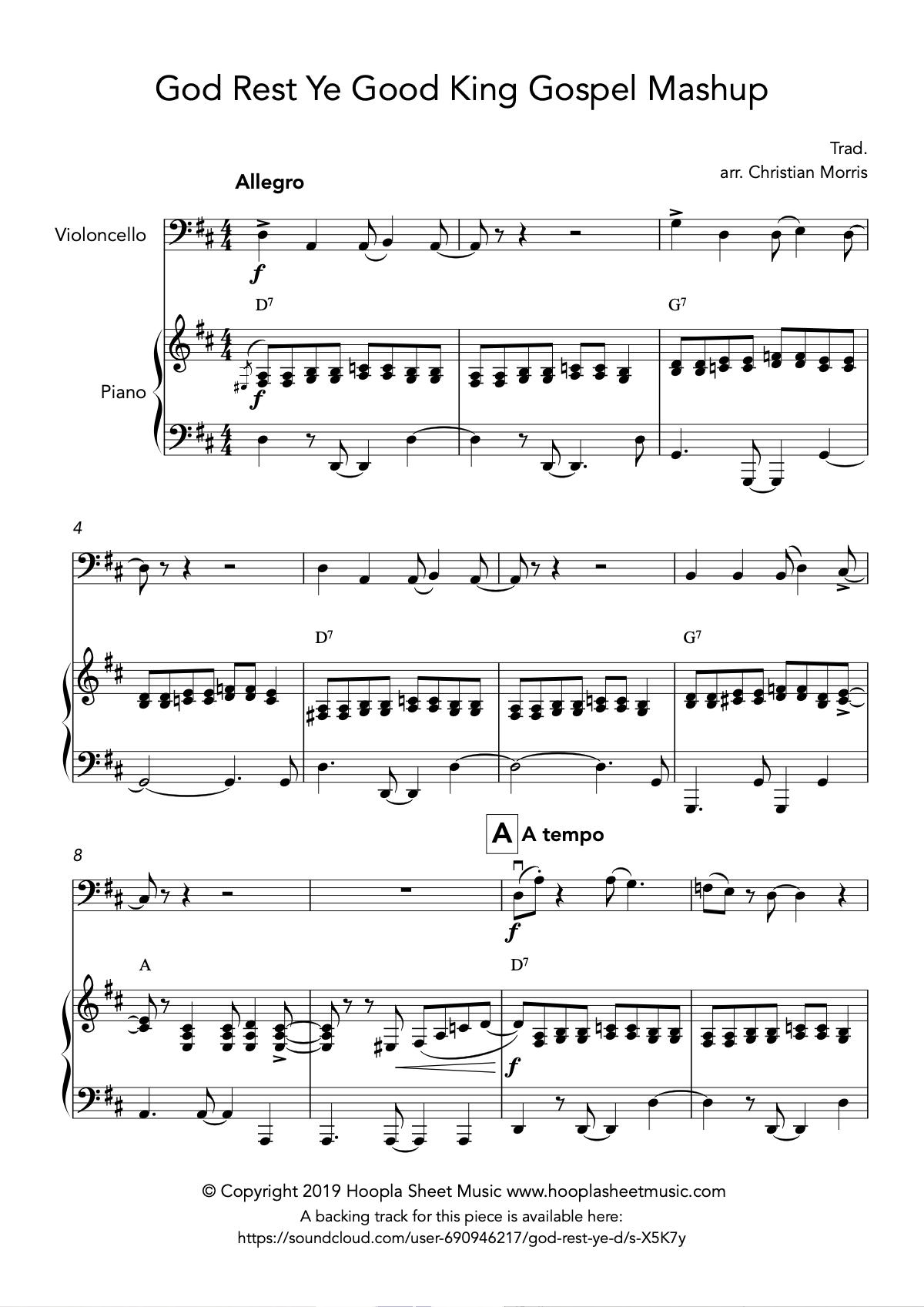 God Rest Ye Good King Gospel Mashup (Cello)