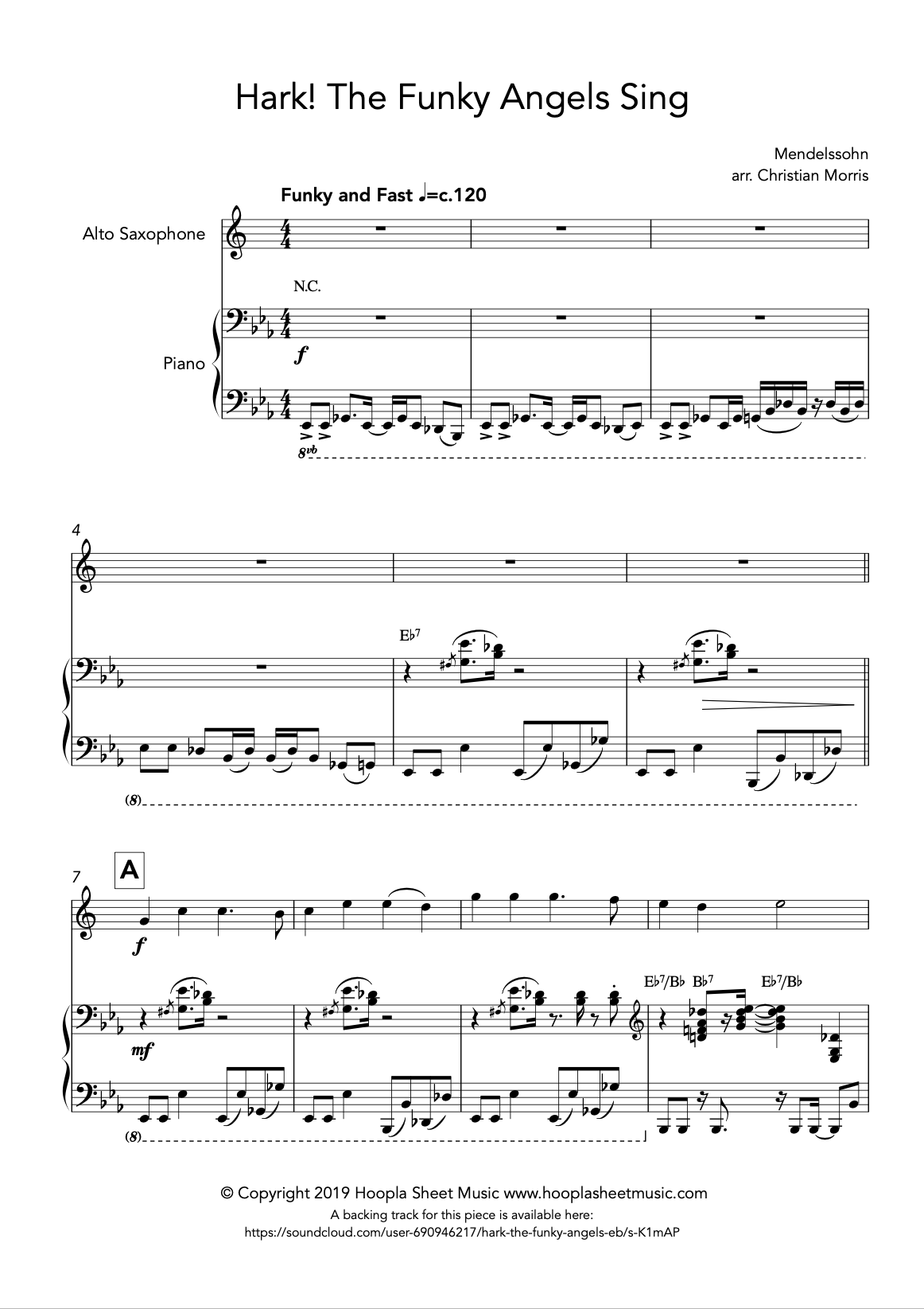 Hark! The Funky Angels Sing (Alto Saxophone)