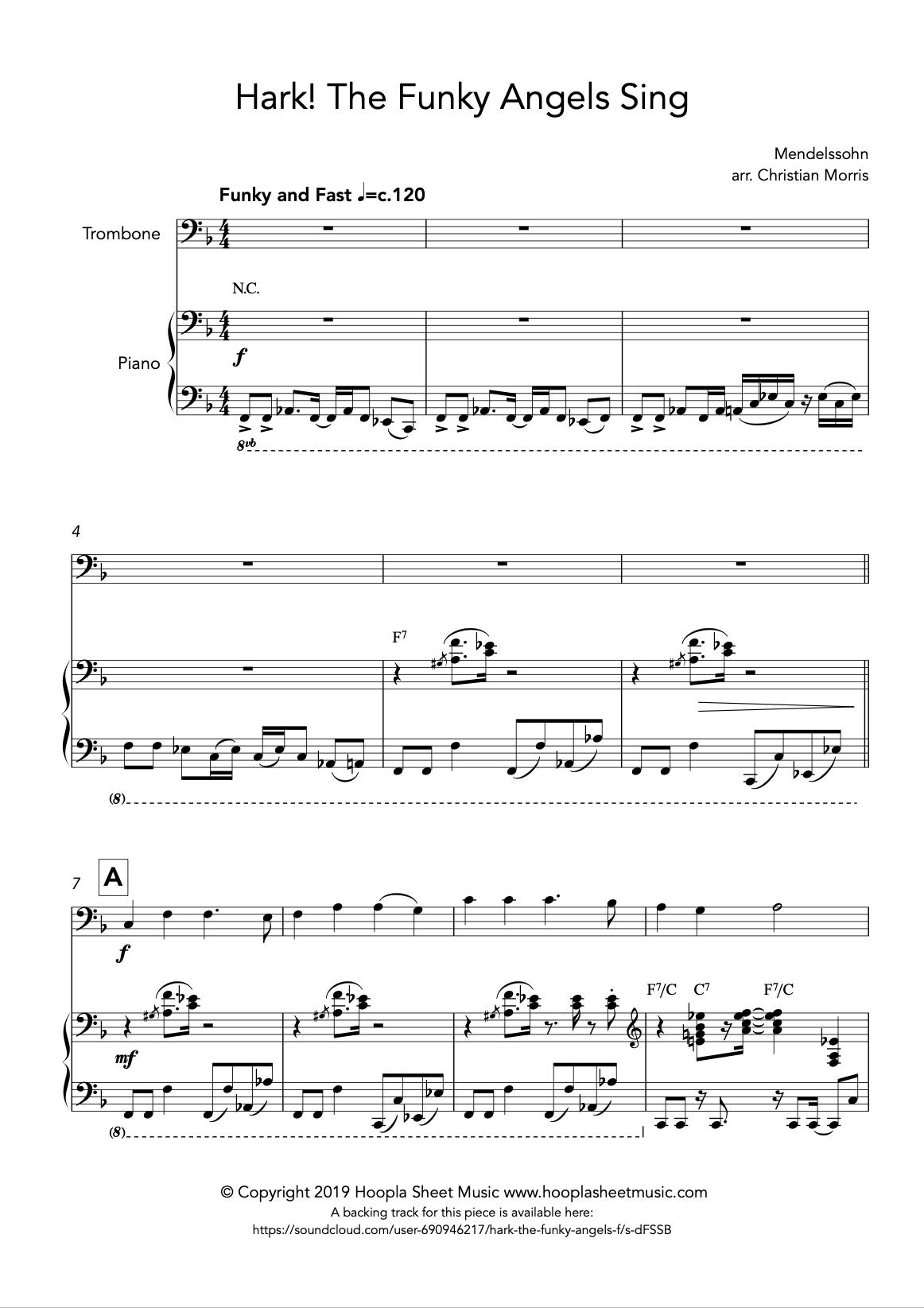 Hark! The Funky Angels Sing (Trombone)