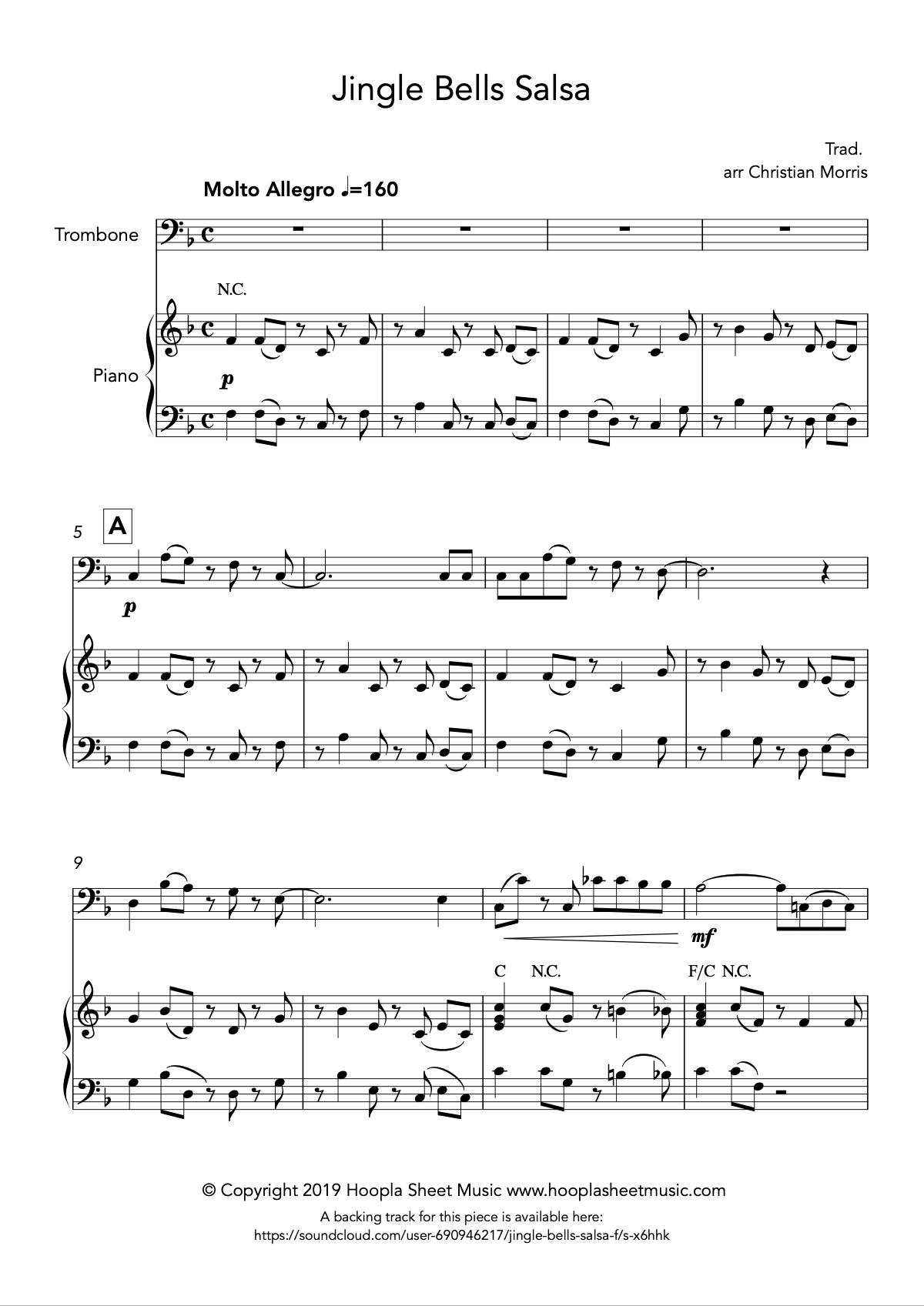 Jingle Bells Salsa (Trombone)