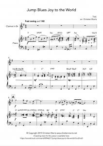 Jump Blues Joy to the World (Clarinet)