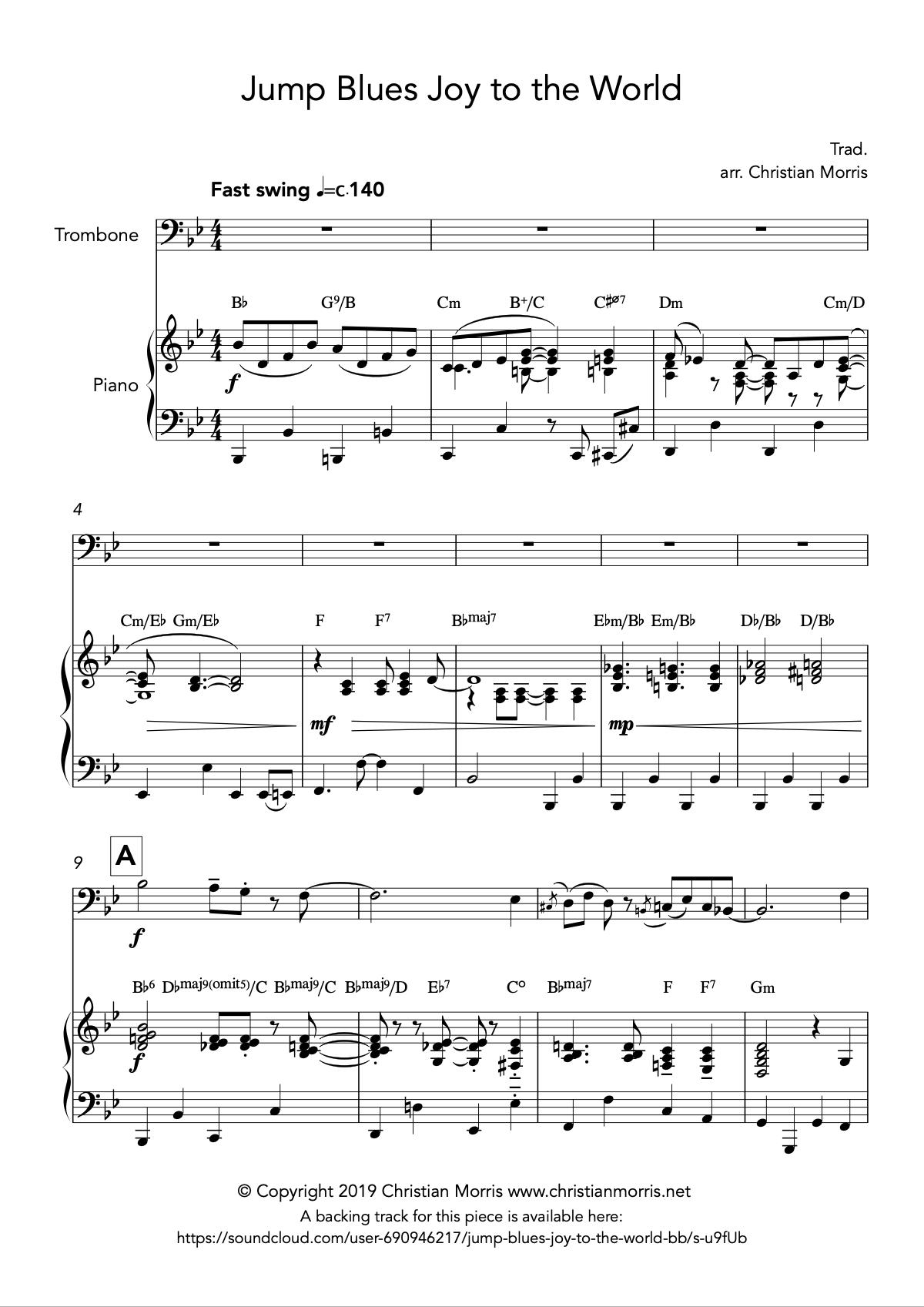 Jump Blues Joy to the World (Trombone)