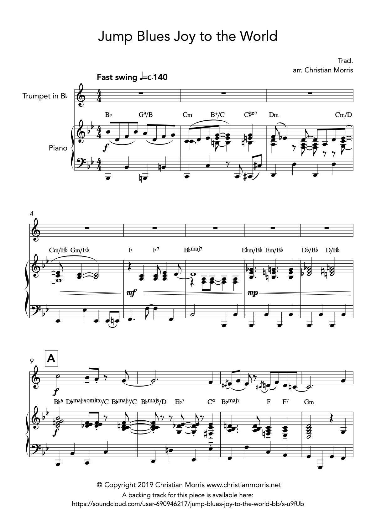 Jump Blues Joy to the World (Trumpet)