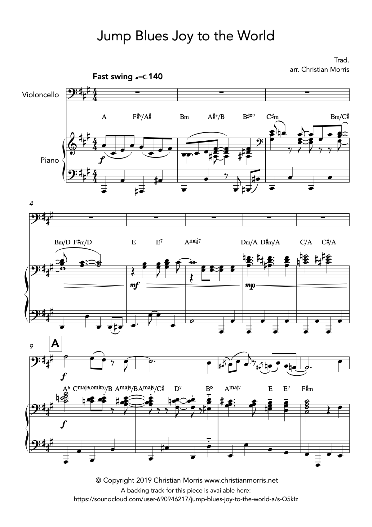 Jump Blues Joy to the World (Violin)