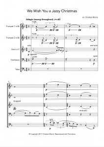 We Wish You a Jazzy Christmas (Brass Quintet 2tp, hn, tb, tu)