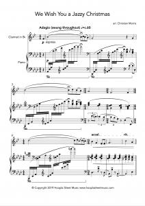 We Wish You a Jazzy Christmas (Clarinet)