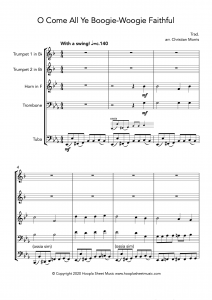 O Come All Ye Boogie-Woogie Faithful (Brass Quintet)