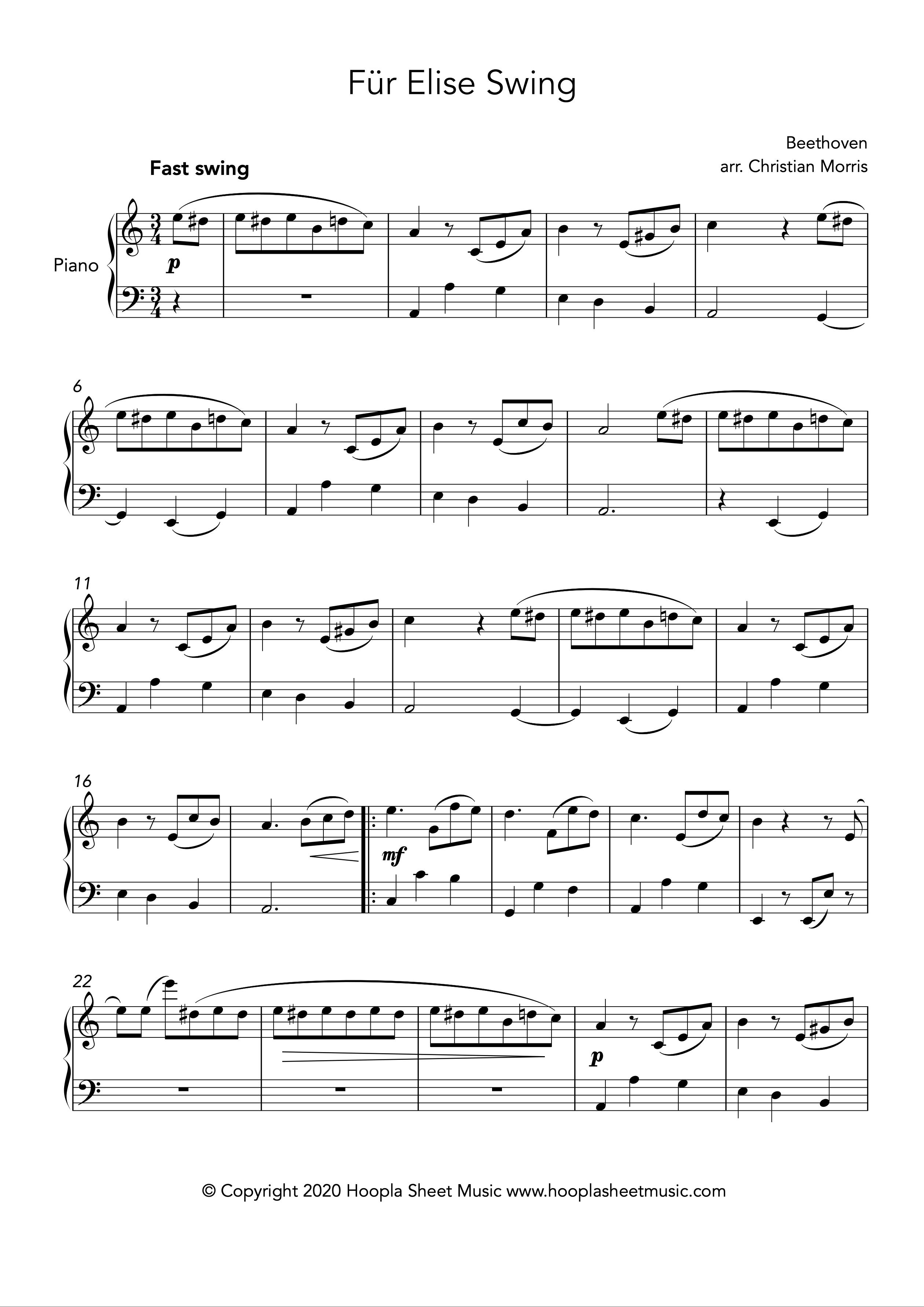 Für Elise Swing (Piano)