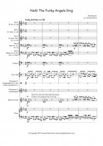 Hark! The Funky Angels Sing (Hark the Herald) (Flexible 5-Part)