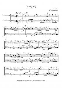Danny Boy, fantasy for trombone duet
