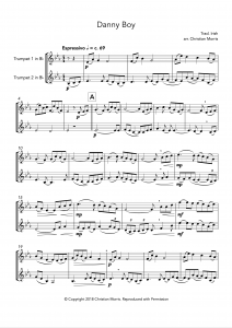 Danny Boy, fantasy for trumpet duet