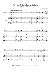 Twinkle, Twinkle Pop Variations (Twinkle, Twinkle Little Star) for Trombone