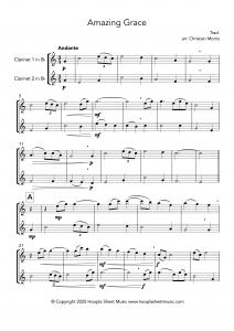 Amazing Grace (Clarinet Duet)