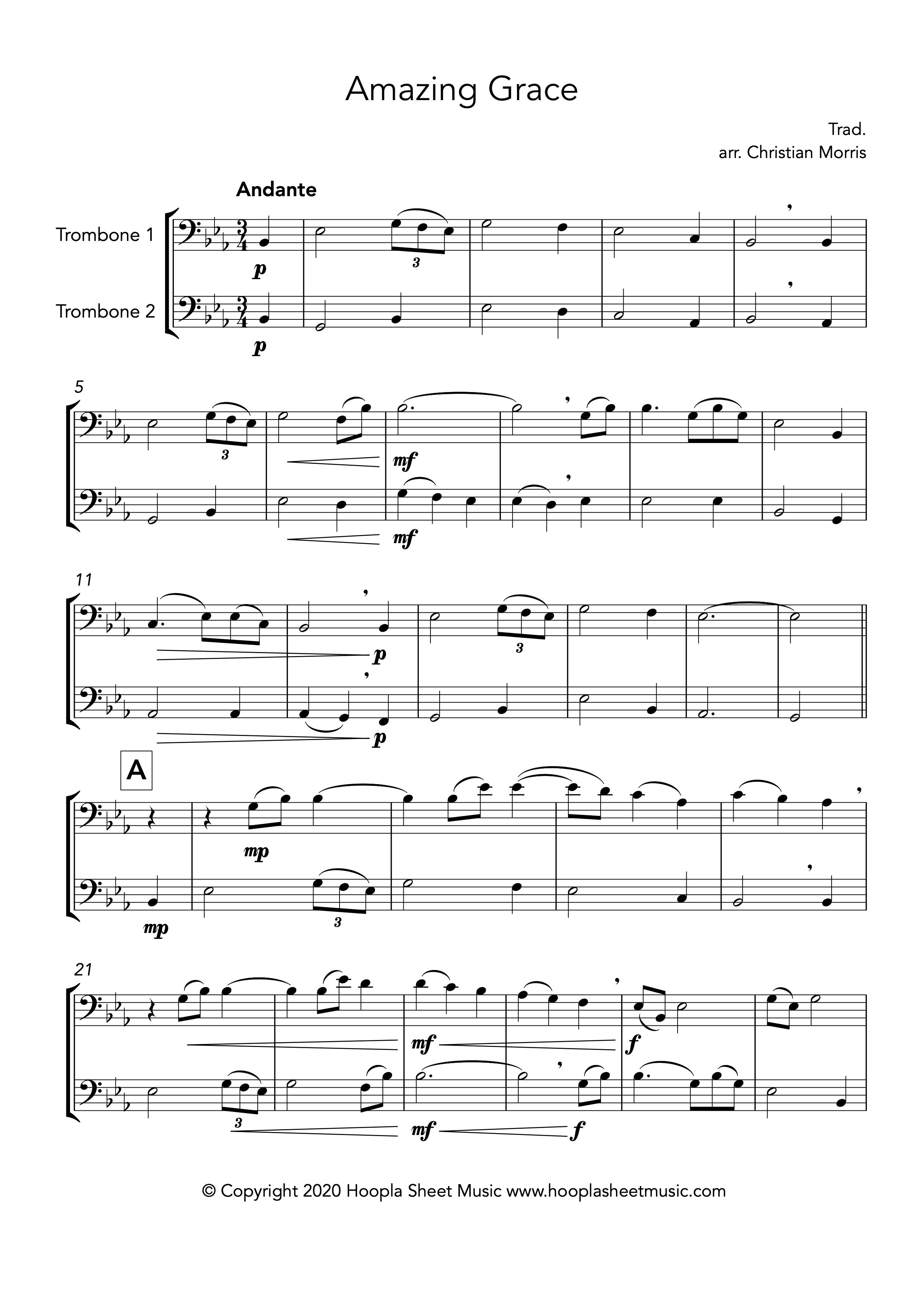 Amazing Grace (Trombone Duet)