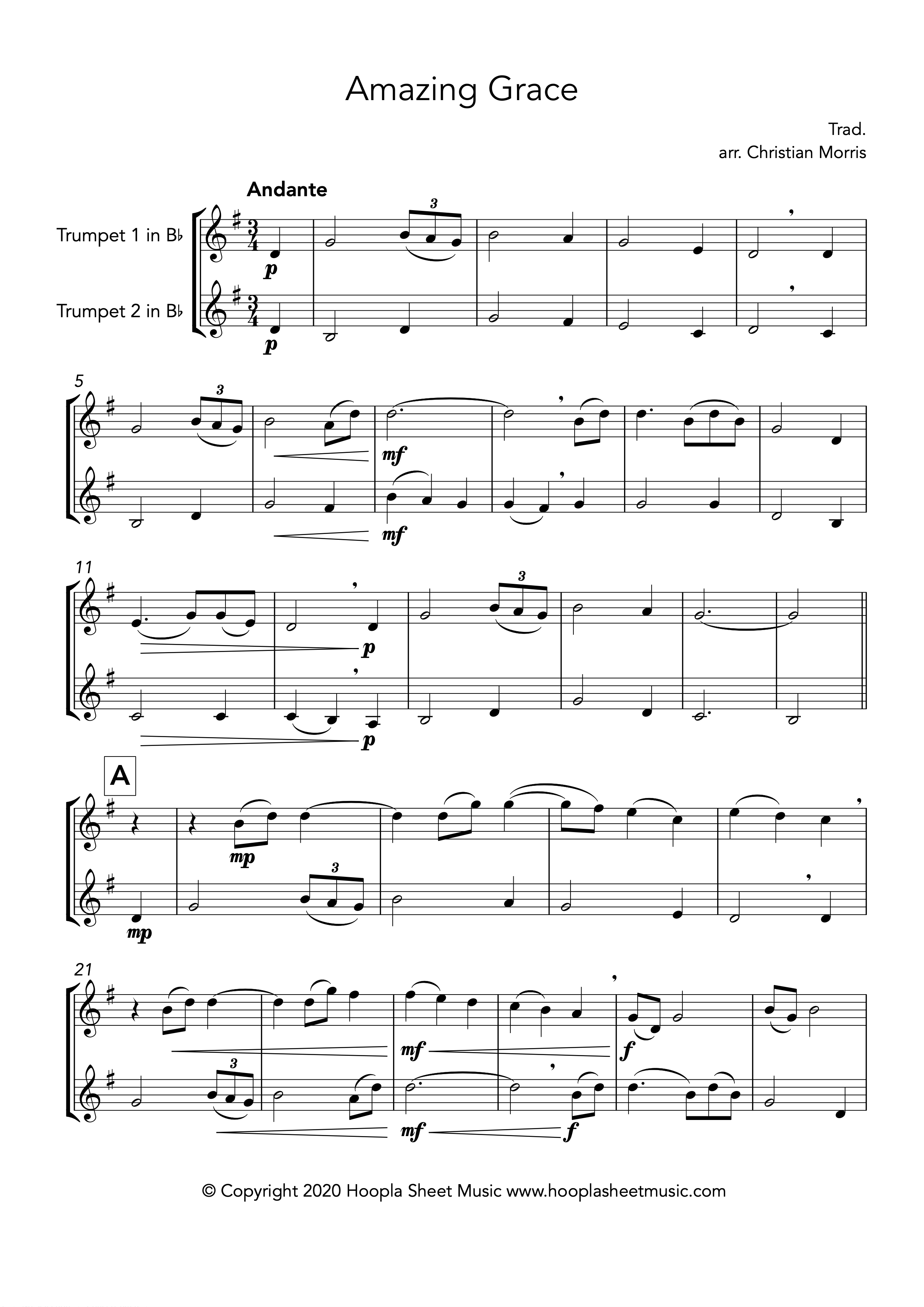 Amazing Grace (Trumpet Duet)