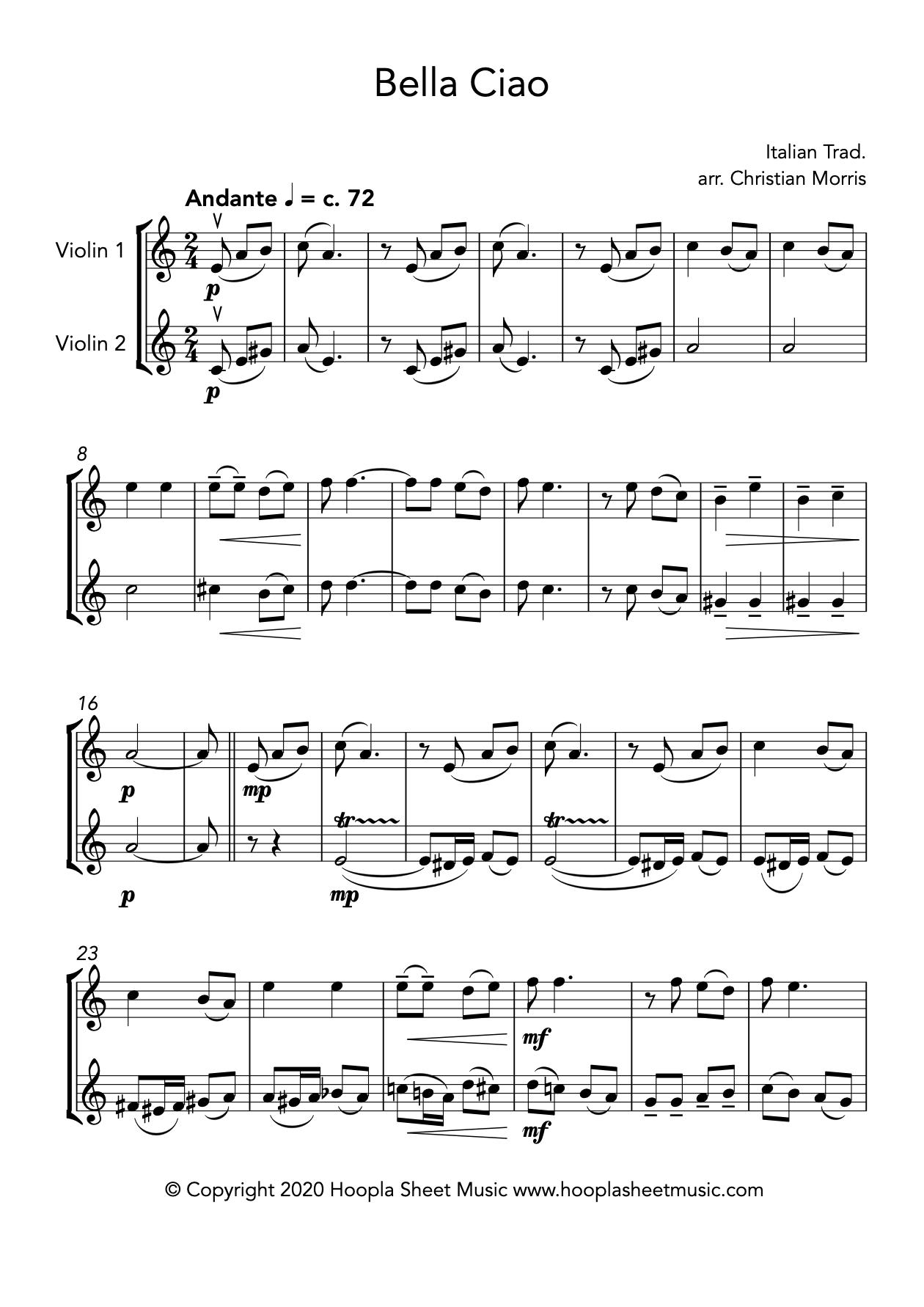 Bella Ciao (Violin Duet)
