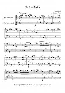 Für Elise Swing (Alto Saxophone Duet)
