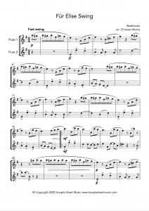 Für Elise Swing (Flute Duet)