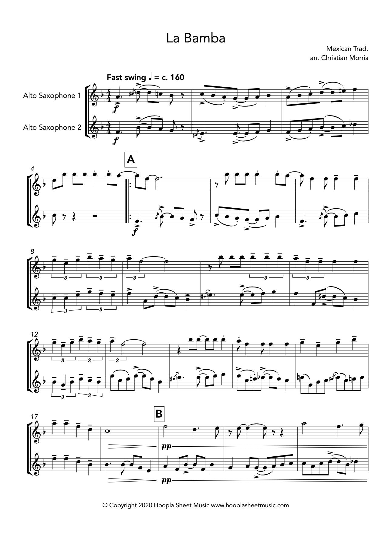 La Bamba (Alto Saxophone Duet)