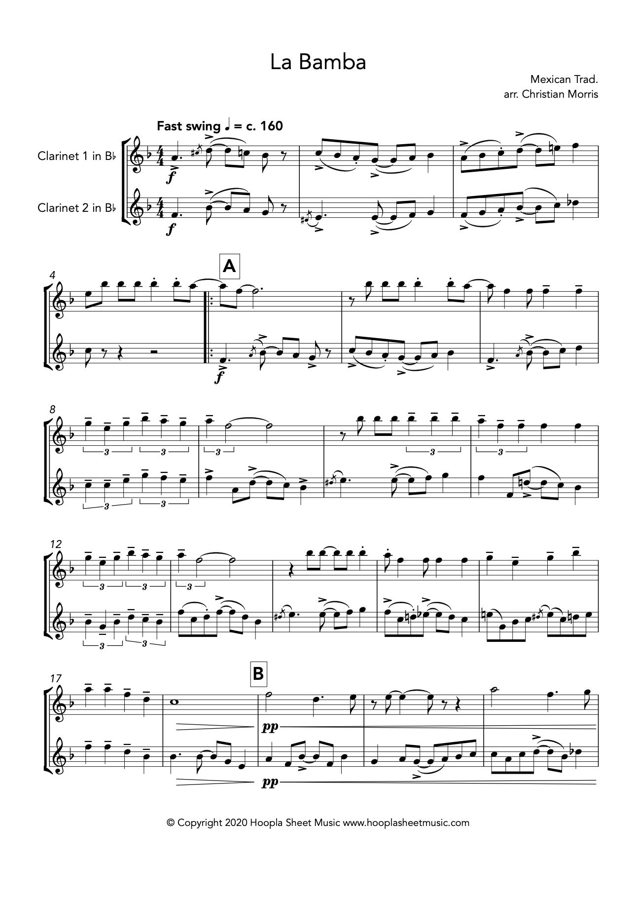 La Bamba (Clarinet Duet)