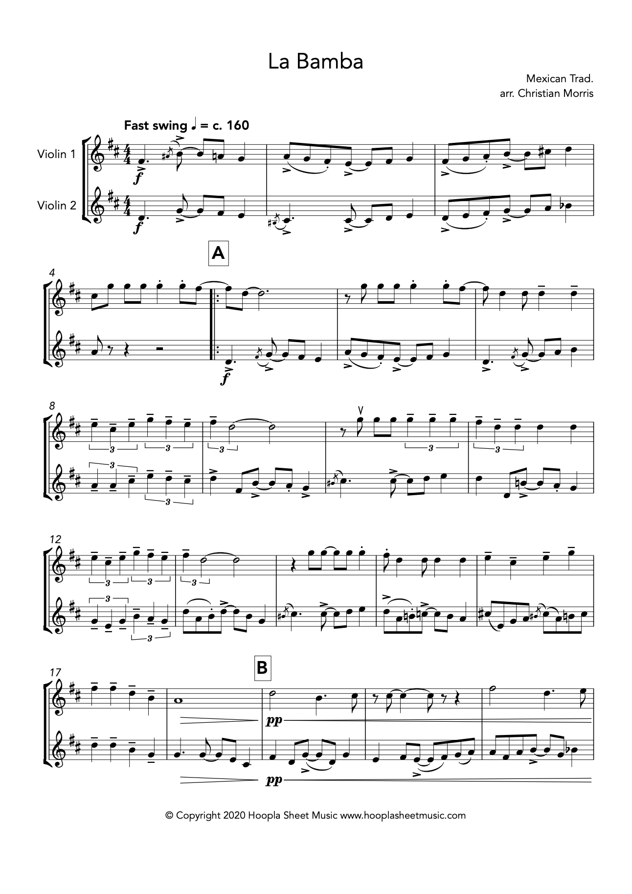 La Bamba (Violin Duet)