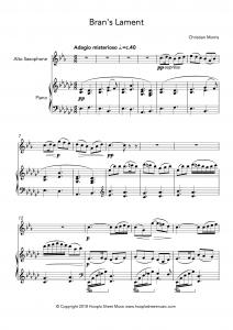 Bran's Lament (Alto Saxophone)