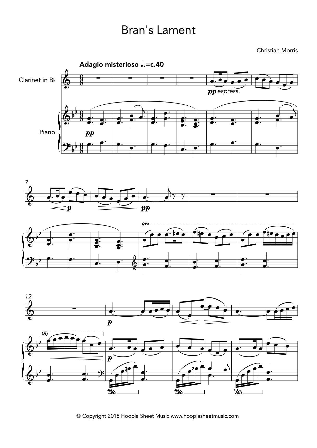 Bran's Lament (Clarinet)