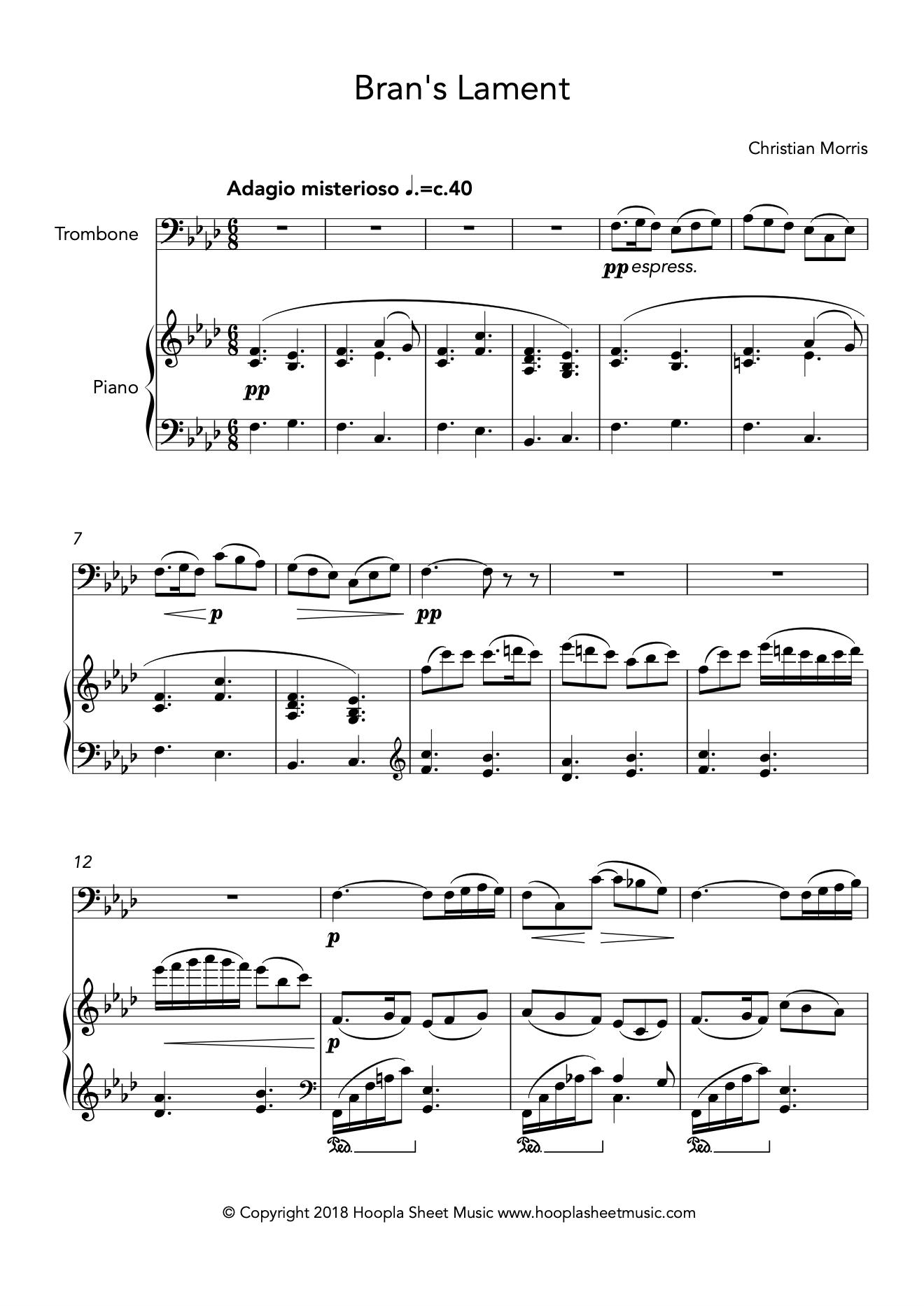 Bran's Lament (Trombone)