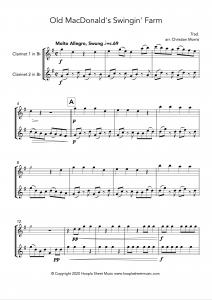 Old MacDonald's Swingin' Farm (Clarinet Duet)