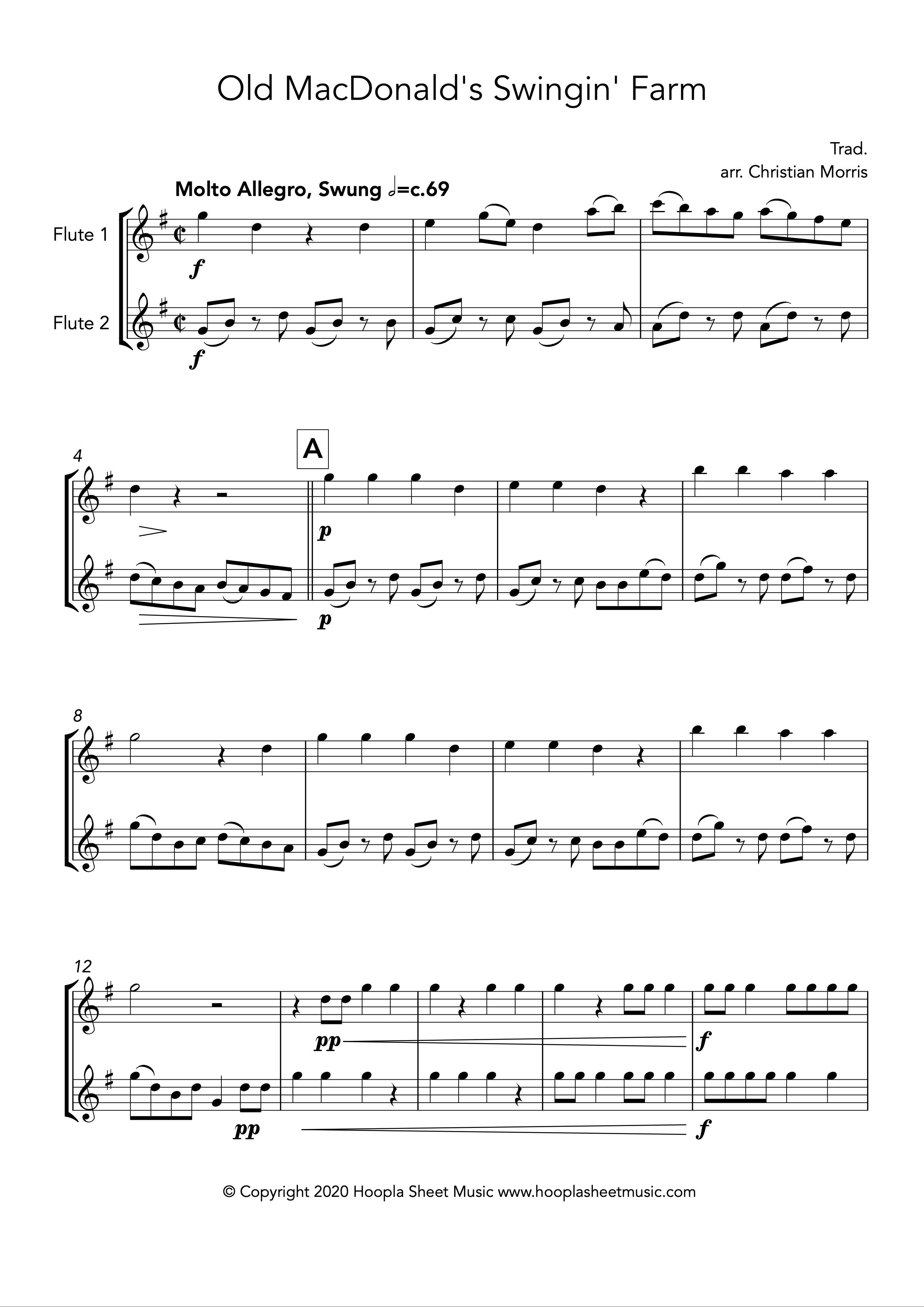 Old MacDonald's Swingin' Farm (Flute Duet)