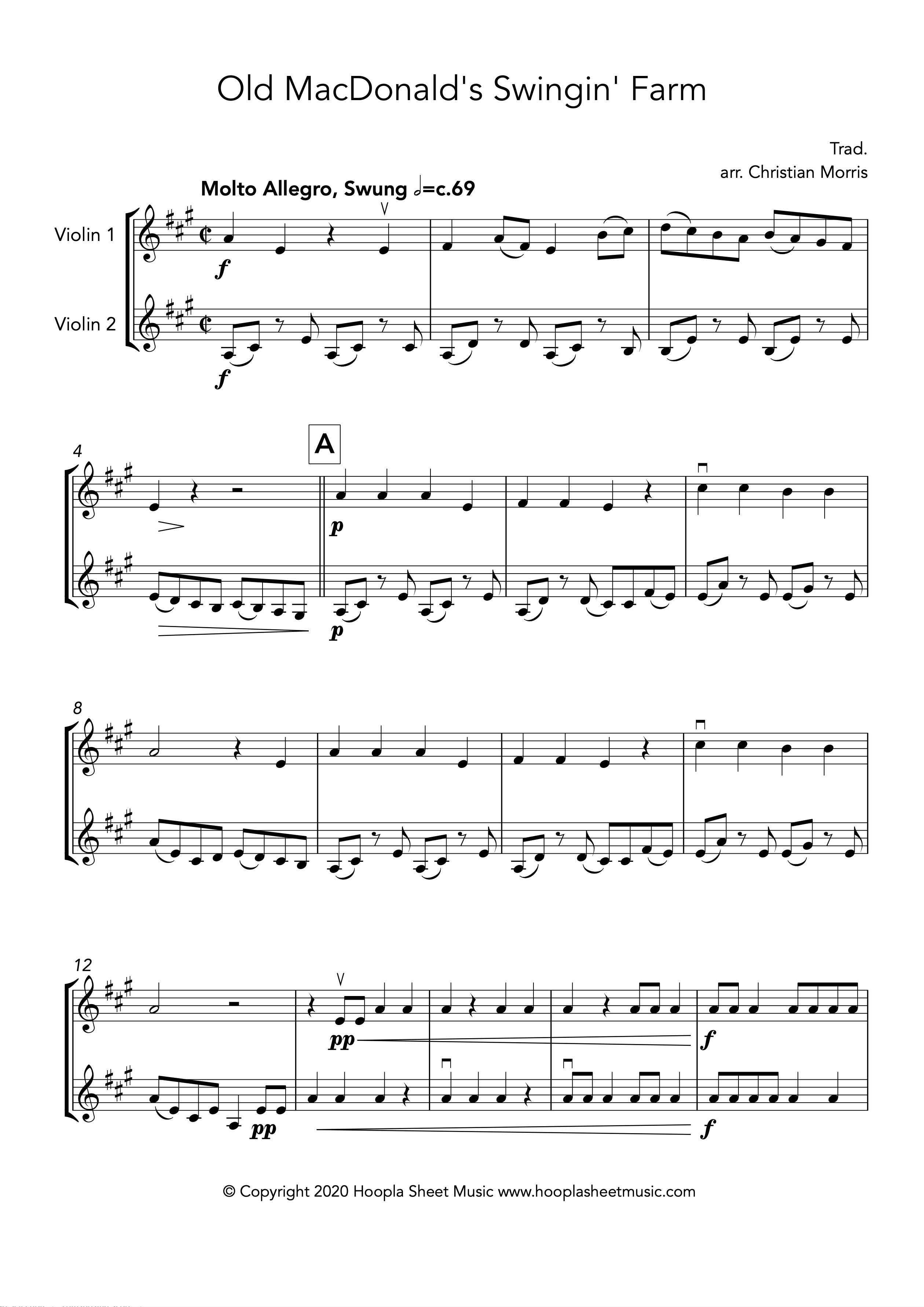 Old MacDonald's Swingin' Farm (Violin Duet)