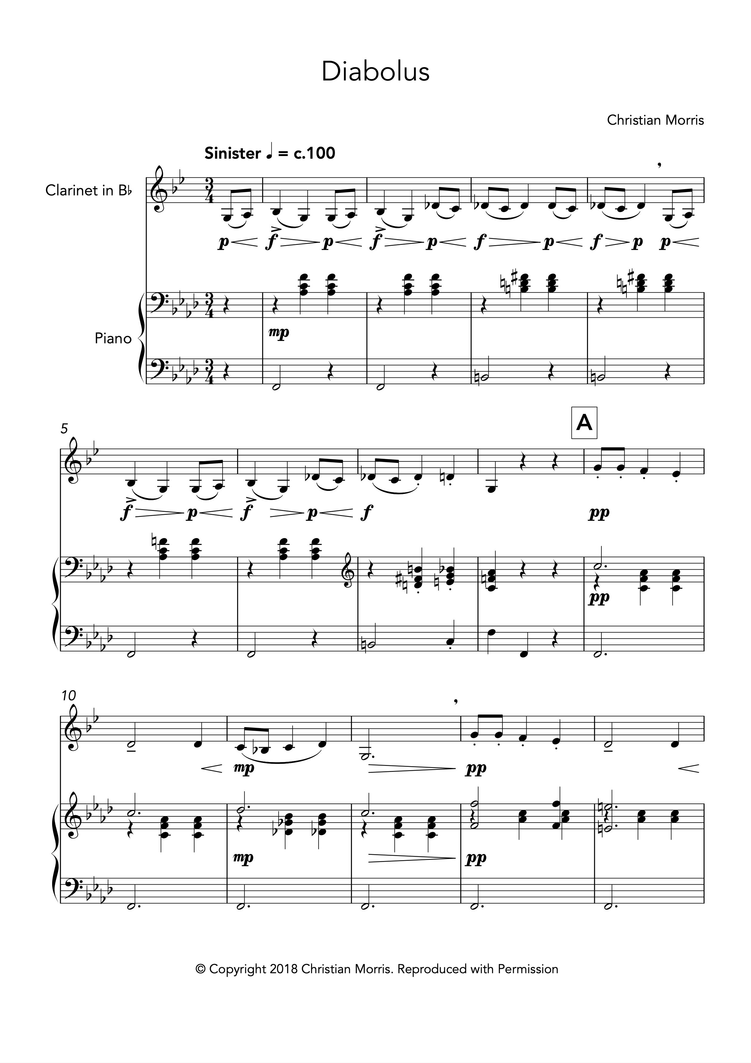 Diabolus (Clarinet and Piano)