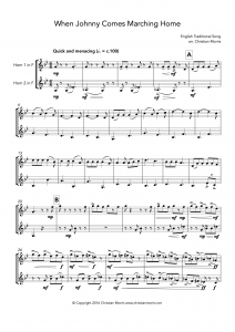 When Johnny Comes Marching Home (French Horn Duet)