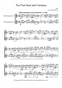 The First Noel with Fanfares (Alto Saxophone Duet)