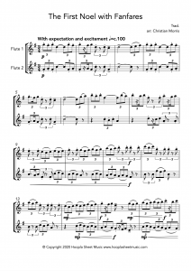 The First Noel with Fanfares (Clarinet Duet)