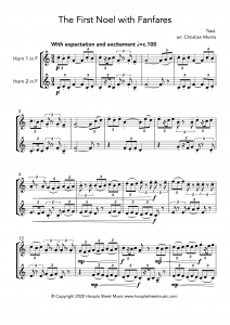 The First Noel with Fanfares (French Horn Duet)