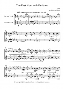 The First Noel with Fanfares (Trumpet Duet)