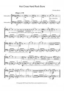 Hot Cross Hard Rock Buns (Cello Duet)