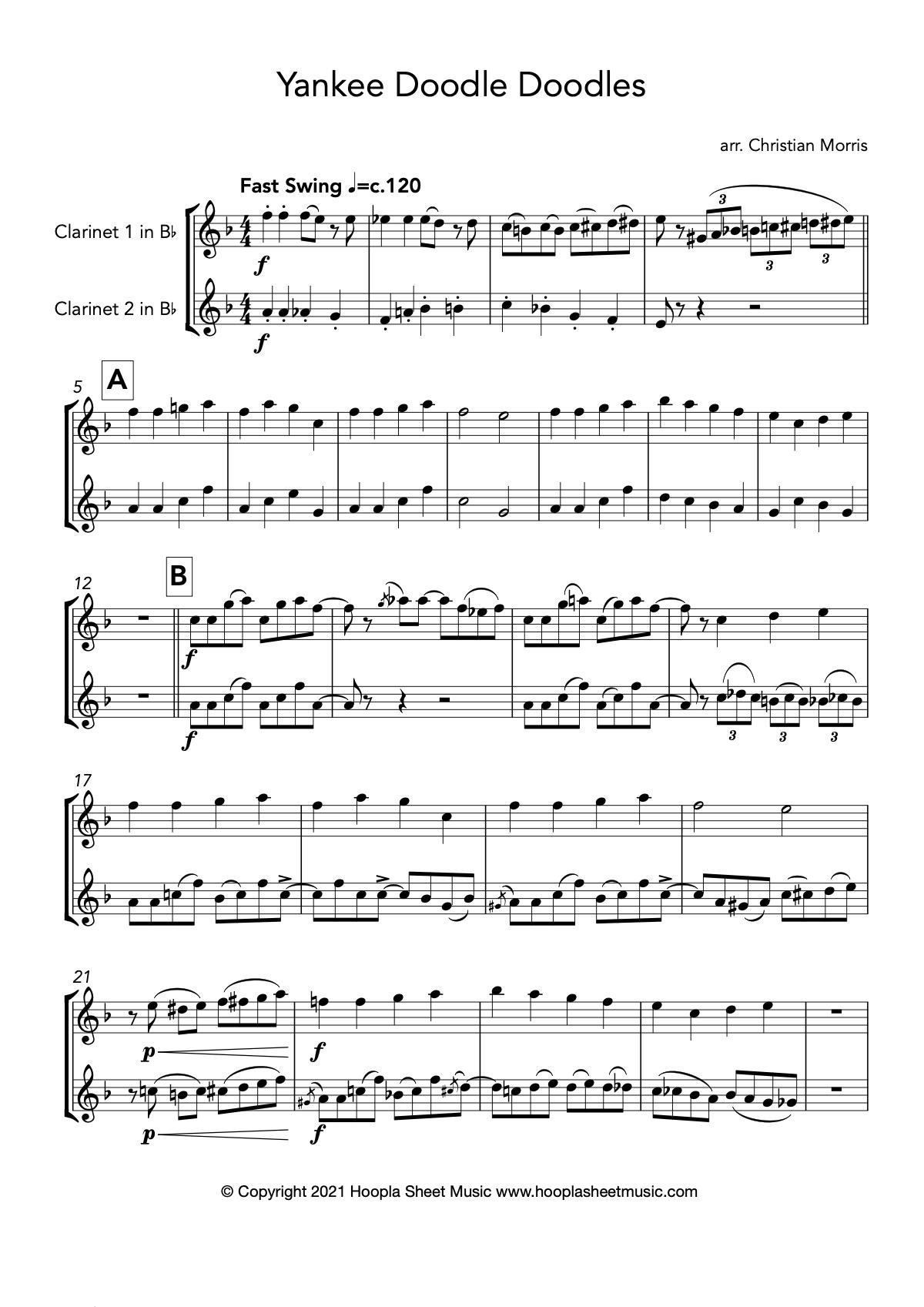 Yankee Doodle Doodles (Clarinet Duet)