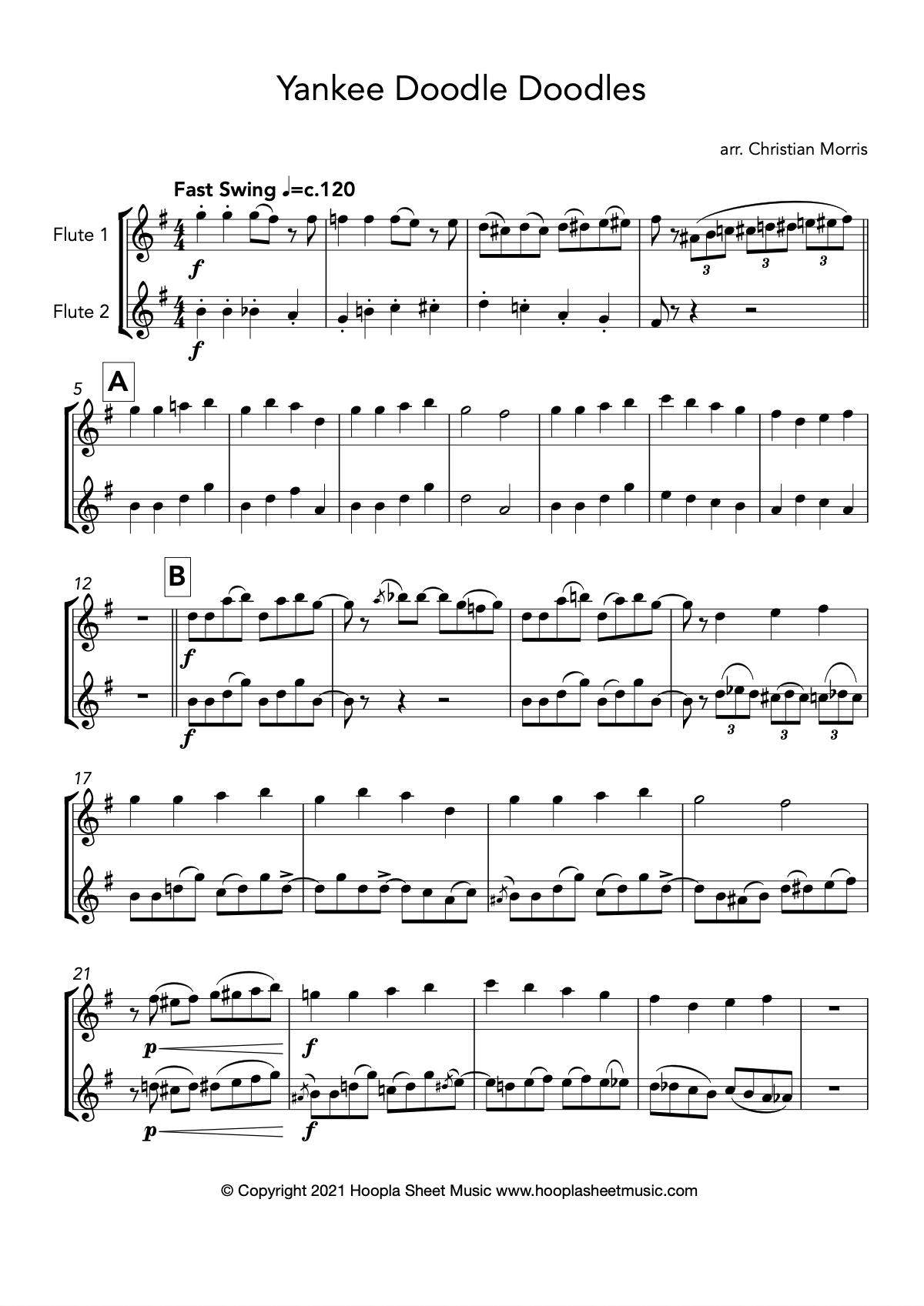 Yankee Doodle Doodles (Flute Duet)